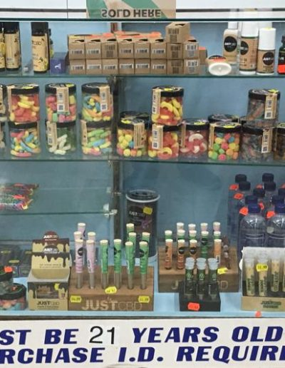Just CBD Products Display